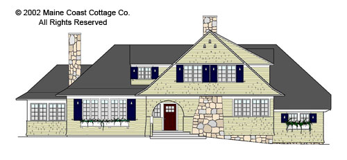 Shingle style house plans shingle style home plans at for Maine cottage house plans