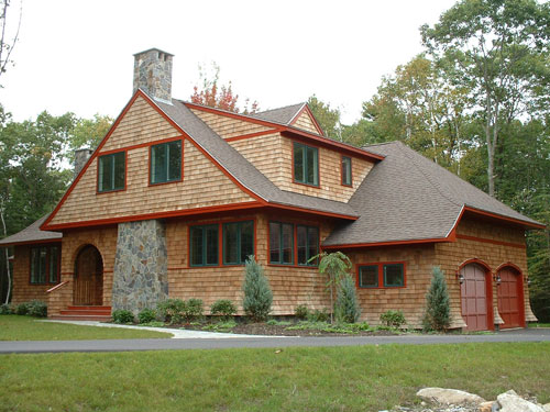 Shingle style house plans by maine coast cottage co for Maine home plans